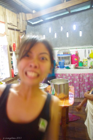 Her sister, Charity, goofing around. :D